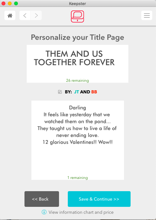 Writing a Great Dedication Page for your Keepster Book