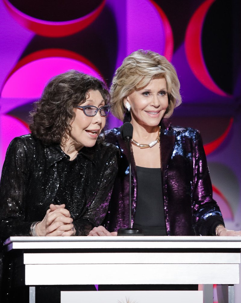 Lily Tomlin and Jane Fonda host Homeboy Industries 2019 Lo Máximo Awards Dinner at JW Marriott Los Angeles at L.A. LIVE on March 30, 2019 in Los Angeles, California.